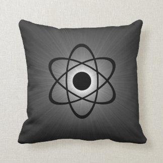Nerdy Atomic Pillow, Gray Pillows