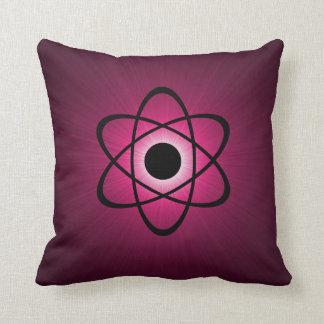 Nerdy Atomic Pillow, Pink Pillow