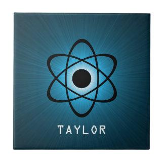 Nerdy Atomic Tile, Blue Tile