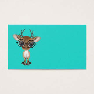 Nerdy Baby Deer Wearing Glasses Business Card