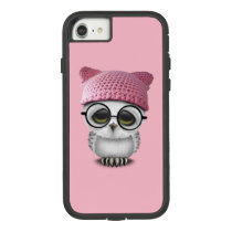 Nerdy Baby Owl Wearing Pussy Hat Case-Mate Tough Extreme iPhone 7 Case