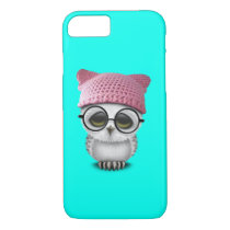 Nerdy Baby Owl Wearing Pussy Hat iPhone 7 Case