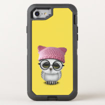 Nerdy Baby Owl Wearing Pussy Hat OtterBox Defender iPhone 7 Case