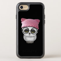 Nerdy Baby Owl Wearing Pussy Hat OtterBox Symmetry iPhone 7 Case