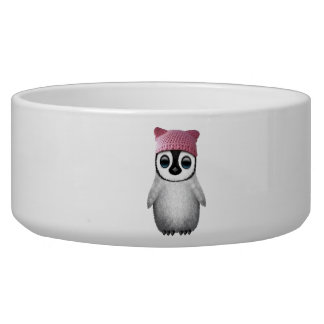 Nerdy Baby Penguin Wearing Pussy Hat Bowl