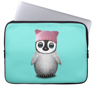 Nerdy Baby Penguin Wearing Pussy Hat Computer Sleeve
