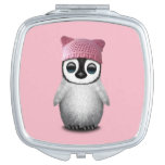 Nerdy Baby Penguin Wearing Pussy Hat Makeup Mirror