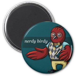 Nerdy Birdy 2 Inch Round Magnet