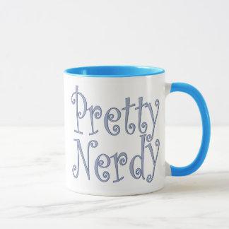 Nerdy bonito azul taza
