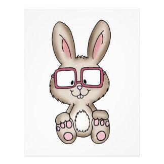 Nerdy Bunny - Cute Design with bunny Custom Letterhead