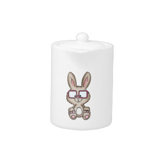Nerdy Bunny - Cute Design with bunny Teapot