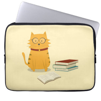 Nerdy Cat Computer Sleeve