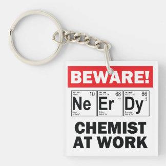 nerdy chemist keychain acrylic keychains