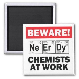 nerdy chemist magnet
