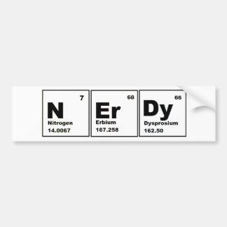 Nerdy Chemistry Product! Car Bumper Sticker