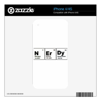 Nerdy Chemistry Product! Skin For iPhone 4