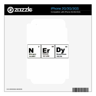 Nerdy Chemistry Product Skins For iPhone 3