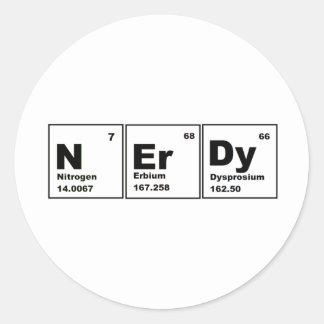 Nerdy Chemistry Product! Classic Round Sticker