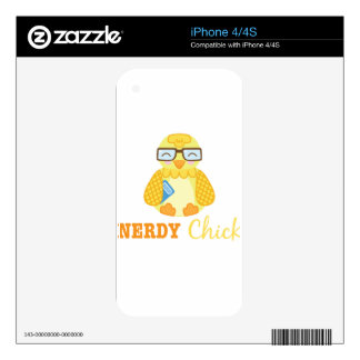 Nerdy Chick Decals For iPhone 4S