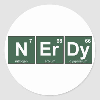 NErDy Classic Round Sticker