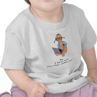 Nerdy Computer Baby T-Shirt Tan Skin
