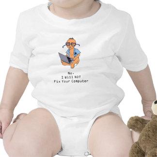 Nerdy Computer Baby Tan Skin Tshirt