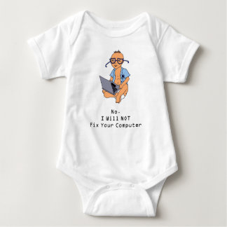 Nerdy Computer Baby Tan Skin T-shirts