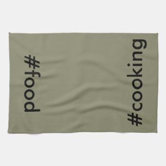 Nerdy Cooking BBQ Chef Hashtags CricketDiane Kitchen Towel