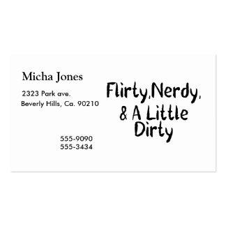 Nerdy coqueto y un poco sucio tarjetas de visita