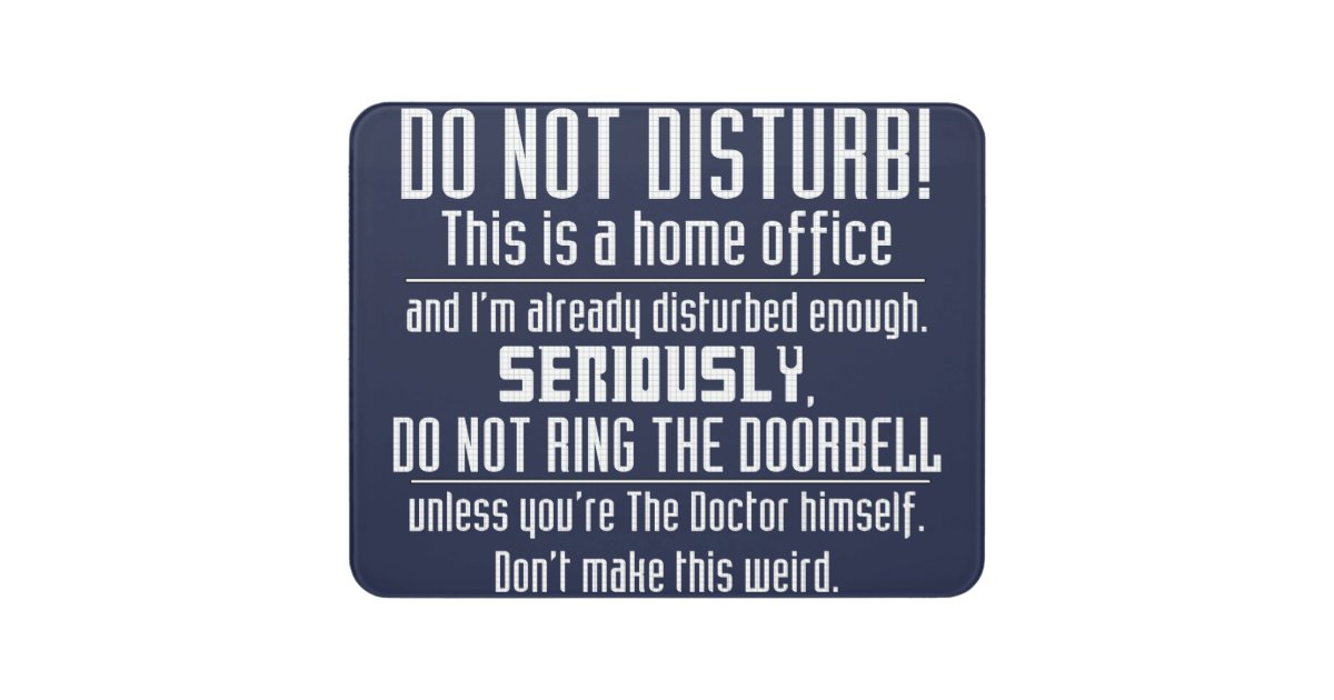 Nerdy Do Not Disturb Sign Zazzle Com