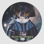 Nerdy Dog does the Darkside stickers