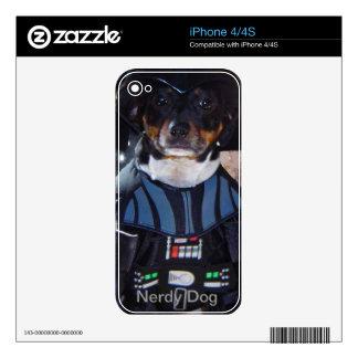 Nerdy Dog i Phone Skin iPhone 4S Decal
