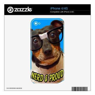 Nerdy Dog logo I Phone Skin Skin For The iPhone 4