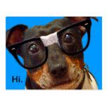 Nerdy Dog logo postcard