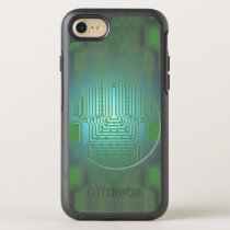 Nerdy Electronic Circuit Board Behind Opaque Glass OtterBox Symmetry iPhone 8/7 Case