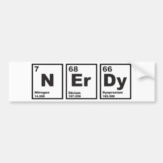 Nerdy Elements Car Bumper Sticker