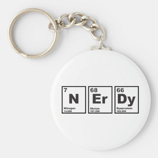 Nerdy Elements Key Chain