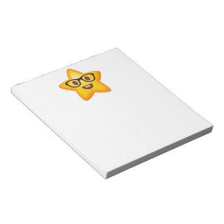 Nerdy Emoji Star Notepad