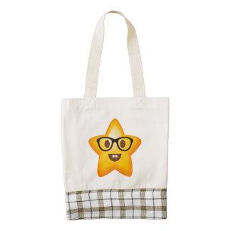 Nerdy Emoji Star Zazzle HEART Tote Bag