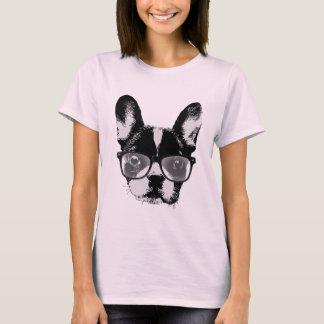 Nerdy French Bulldog Cute Dog T-Shirt