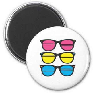 Nerdy/Funky Eyes 2 Inch Round Magnet