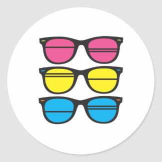 Nerdy/Funky Eyes Classic Round Sticker