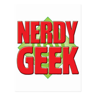 Nerdy Geek v2 Postcards