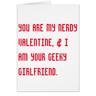 nerdy + geeky valentine's day romantic card greeting card