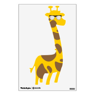 Nerdy Giraffe Wall Decal