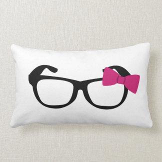 Nerdy Girl Throw Pillow