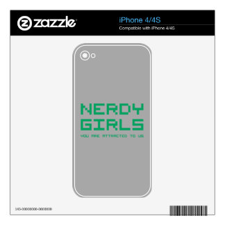 Nerdy Girls 2 Skin For iPhone 4