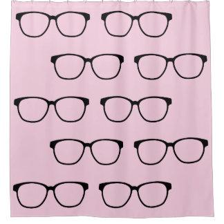 Nerdy Hipster Eyeglasses Shower Curtain