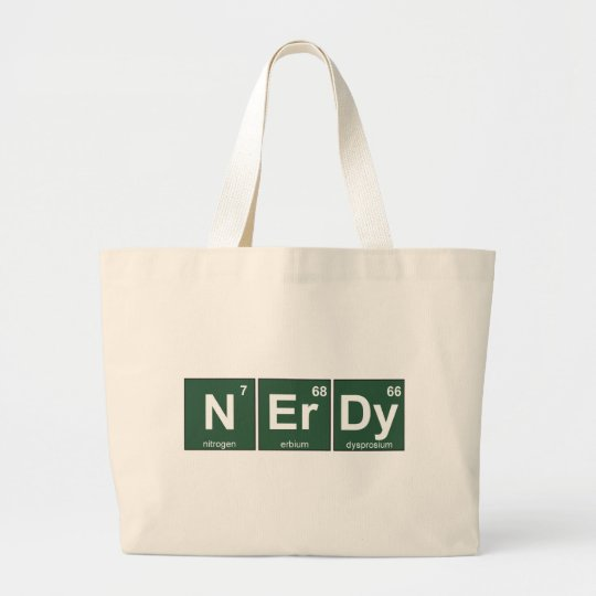 NErDy Large Tote Bag