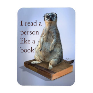 Nerdy Meerkat hipster goofy funny quotes Rectangular Photo Magnet